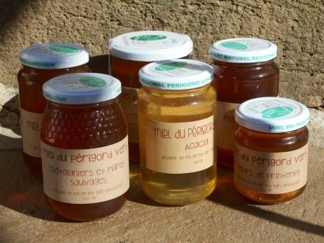 Pots de miel bio du rucher des 3 vergers