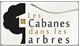"""Logo du site """"les cabanes dans les arbres"""""""