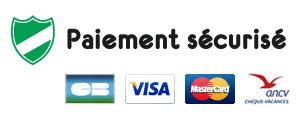 Logo des paiements en ligne sécurisés