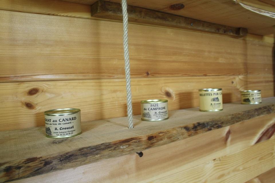 Produits locaux ( foie gras, pâté, mousse de canard)