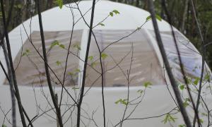 Vue extérieure Wigwam ô bois dormant
